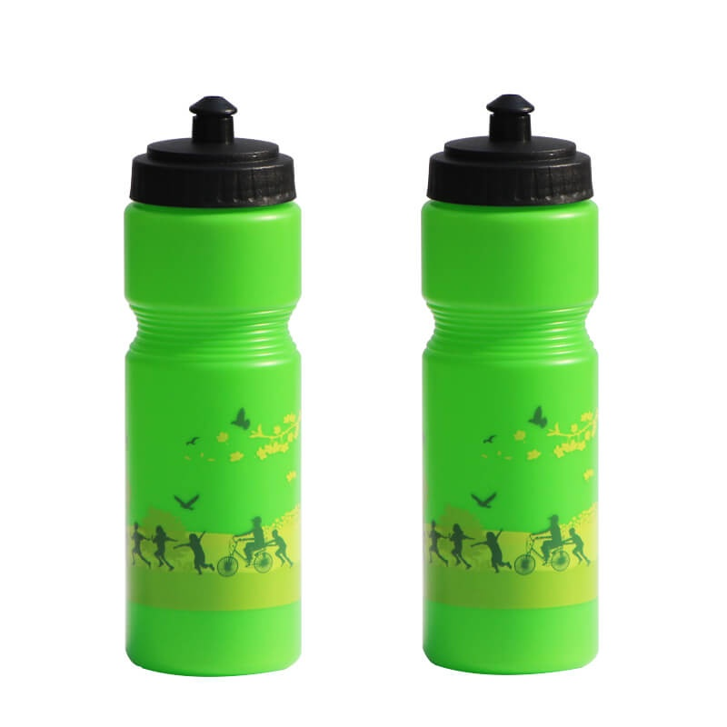 Practical PE 750ml sports bottle bike shaker water bottle