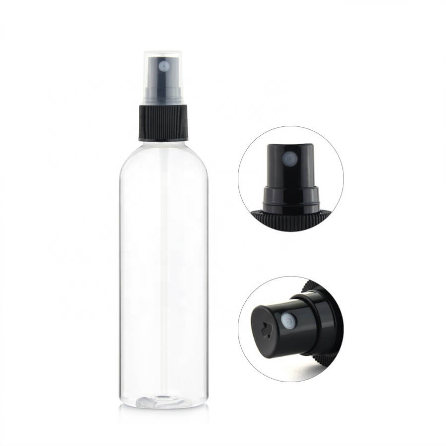 Cosmetic PET PLA plastic spray bottles
