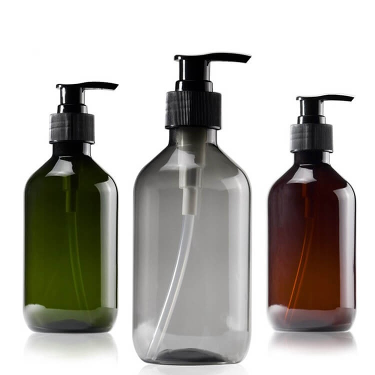 Shampoo plastic bottle with spray cap