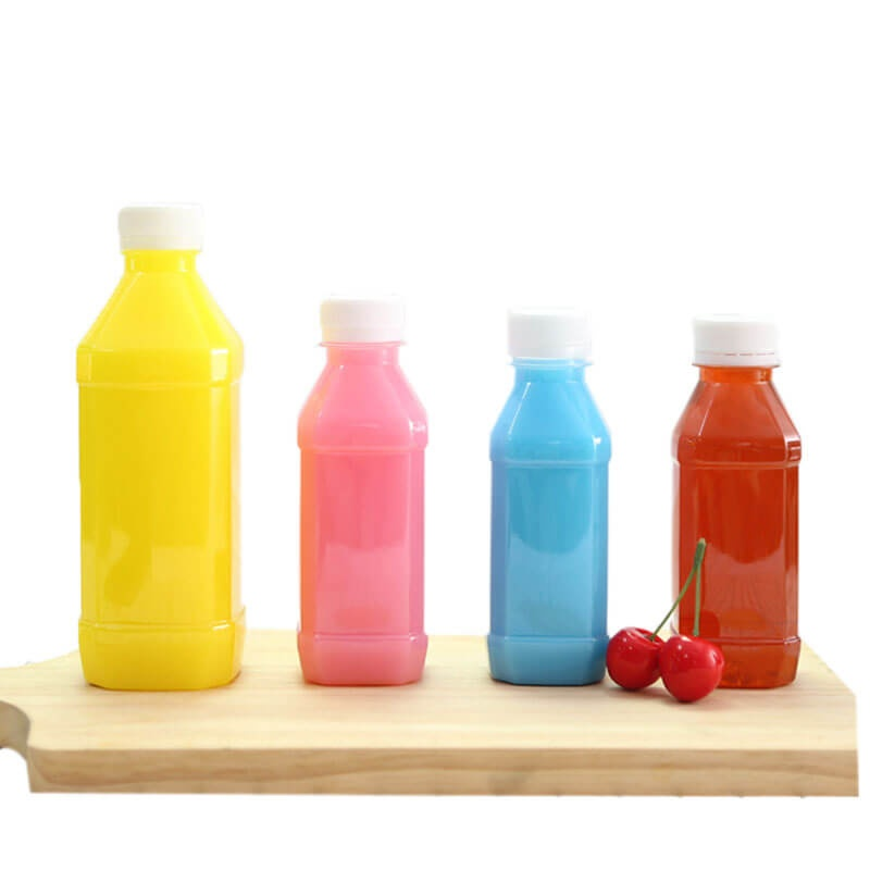 Custom disposable pla Juice  bottles